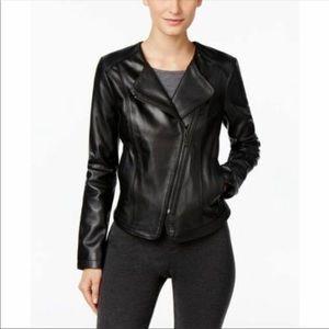 Michael Kors Asymmetrical Black leather jacket